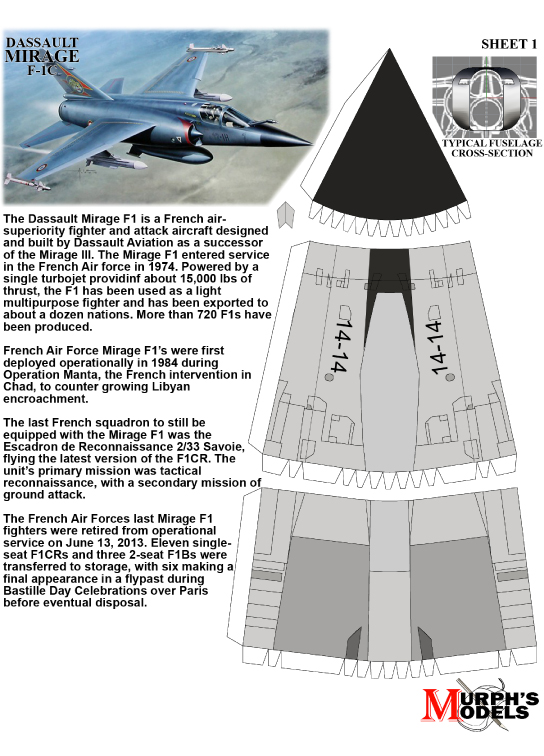 Murph's Models - Dassault Mirage F-1